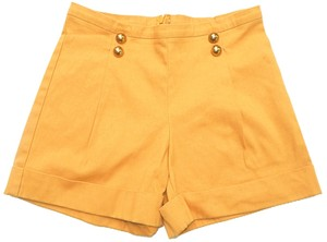 C Slye High Waist High Waisted Sailor Mini/Short Shorts Mustard Yellow