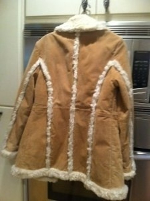 Wilsons Leather tan with white fleece trim Leather Jacket
