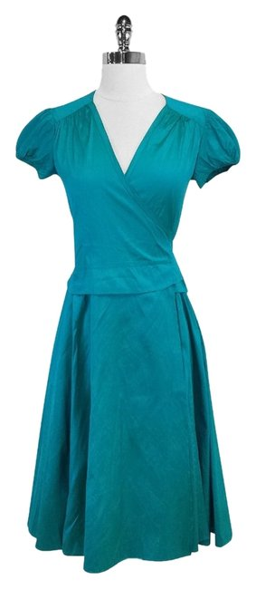 Preload https://item1.tradesy.com/images/calypso-st-barth-deep-teal-silk-wrap-mini-short-casual-dress-size-0-xs-3499405-0-0.jpg?width=400&height=650