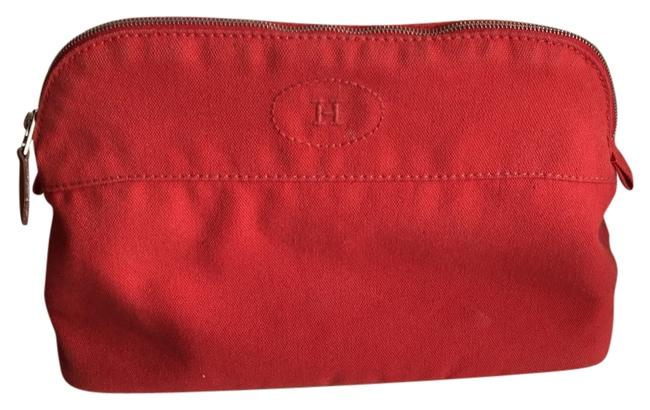 Item - Makeup/Travel Pouch Coral Cotton Weekend/Travel Bag