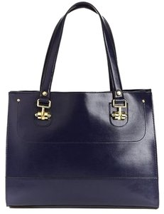 London Fog Tote in Navy