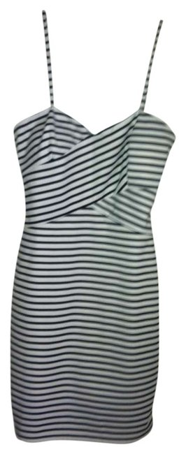Mary L Couture Removable Straps Striped 42 Euro Dress