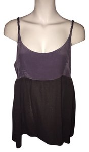 C&C California Silk Cotton Top Faded Black & Purple