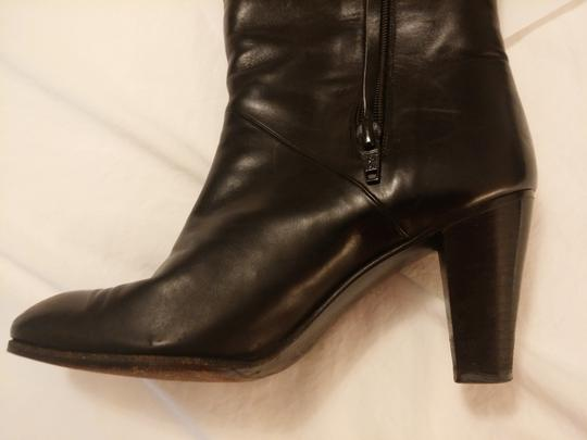 Gucci Leather Made In Italy 18 Inch Black Boots