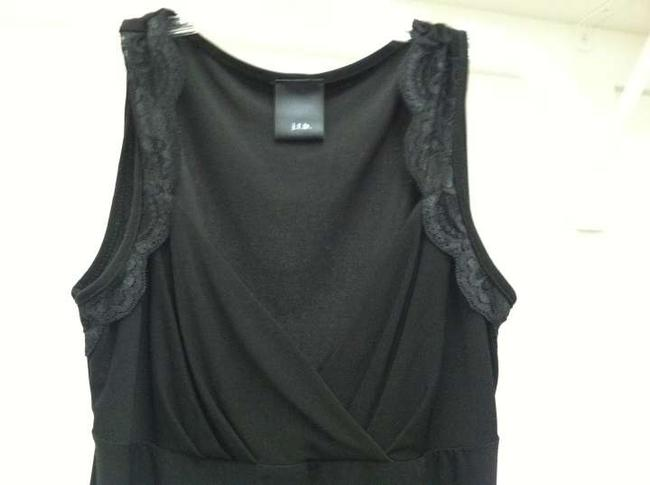 Macy's Lace Blouse Scalloped Sweetheart Date Night Top Black
