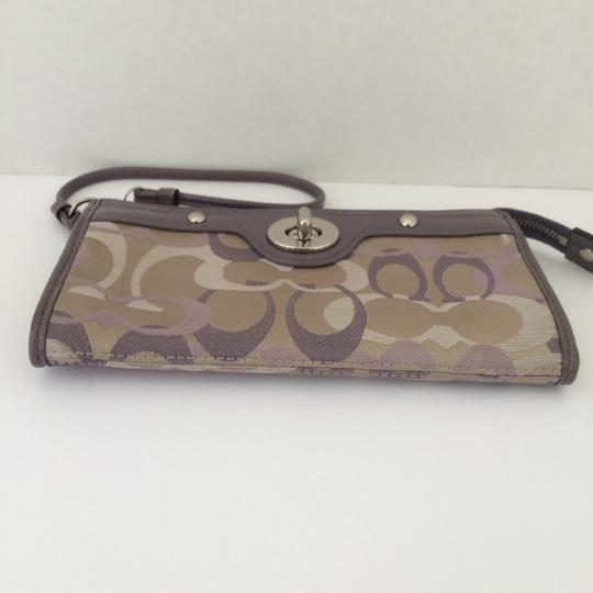 Coach WRISTLET WALLET PURPLE LARGE