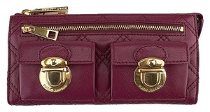 Marc Jacobs Quilted Leather Purple Clutch