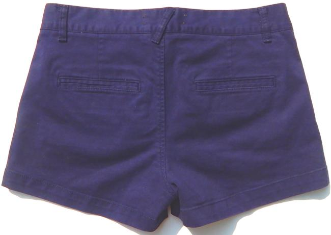 Elizabeth and James Chino Machine Washable Boyfriend Mini/Short Shorts Navy Blue