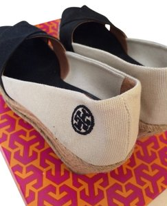 Tory Burch Black/Ivory Wedges
