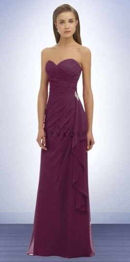 Bill Levkoff Purple Sangria Chiffon 330 Formal Bridesmaid/Mob Dress Size 8 (M)
