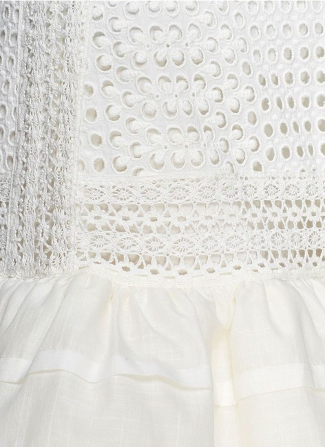 J.Crew Collection New With Tags Eyelet Lined Mini Skirt Ivory