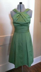David's Bridal Clover Cotton Sateen 83690 Casual Bridesmaid/Mob Dress Size 2 (XS)