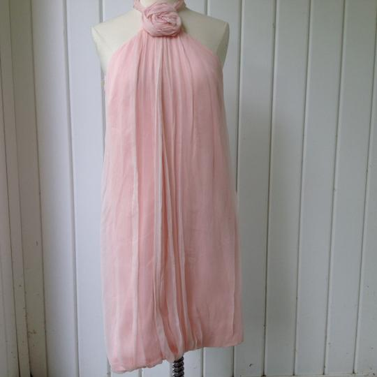Monique Lhuillier Pink Silk Formal Bridesmaid/Mob Dress Size 4 (S)
