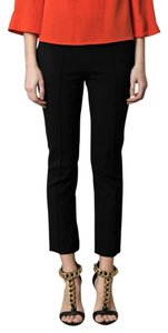 Diane von Furstenberg Cropped Cigarette Knit Side Zip Capri/Cropped Pants Back