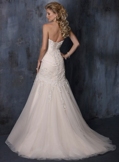 Maggie Sottero Ivory Anniston Feminine Wedding Dress Size 6 (S) Image 1