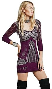 Free People 3/4 Textured Bodycon Sized: Med To Large Dress