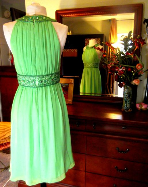 Cinderella Divine short dress Bright Green Special Occasions Night Out Prom Formal Grecian on Tradesy
