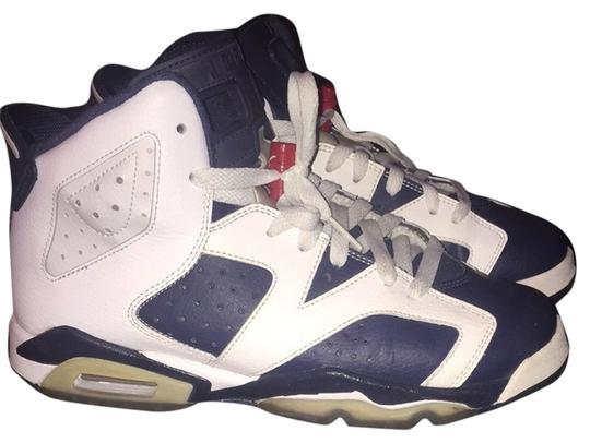 Air Jordan White/Midnight Navy/Varsity Red Athletic