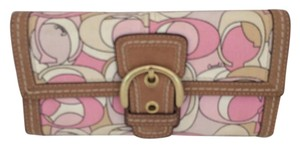 Coach TRIFOLD SOHO WALLET PINK RARE