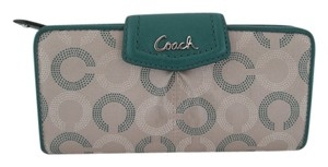 Coach ASHLEY DOT C GREEN WALLET