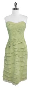 Kay Unger short dress Lime Green Silk Strapless on Tradesy