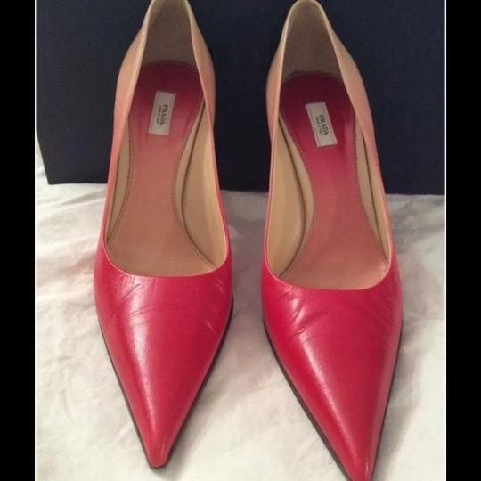 Prada Red/Pink, Multicolor Ombre Pumps