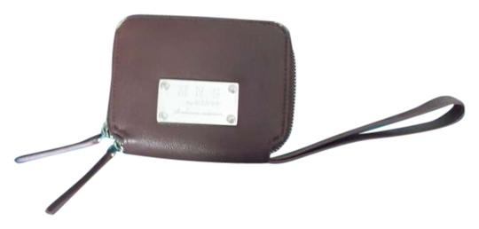 MNGO Leather Faux Leather Wallet Small Wallet Mng Wristlet in brown