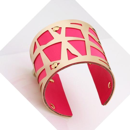 "CasaDiBling The ""Bright Luxury"" bracelet 18K gold plated leather cuff bangle bracelet"