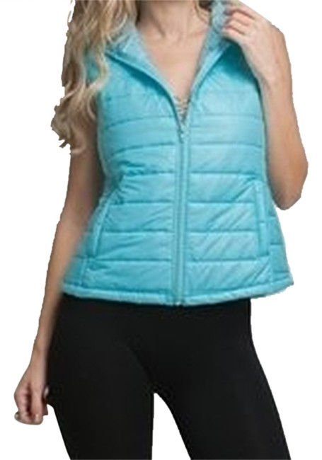 Preload https://img-static.tradesy.com/item/3503521/blue-sleeveless-hoodie-puffer-jacket-vest-size-8-m-0-0-650-650.jpg