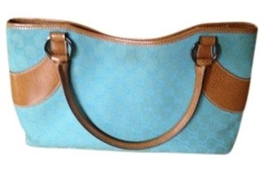 Preload https://item2.tradesy.com/images/gucci-on-monogram-turquoise-canvas-tote-35036-0-0.jpg?width=440&height=440