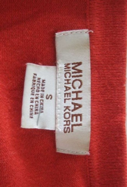 Michael Kors Sweater Button-up Burnt Rusted Size Small Cashmere Blend Cashmere Silk Cotton Cardigan