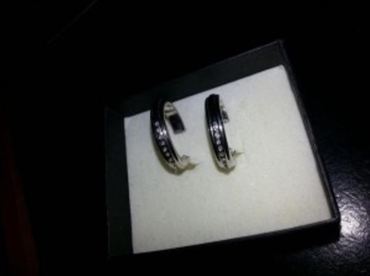 Zales Diamond Accented Hoops