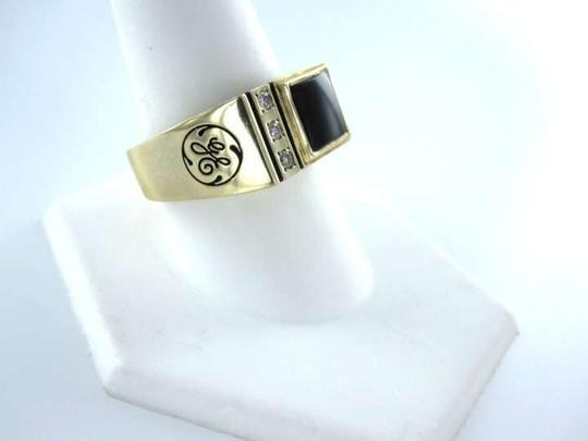 Vintage 10K GOLD MEN RING DESIGNER 3 DIAMOND SZ10 FATHERS DAY GIFT 9.8DWT CTO GENERAL