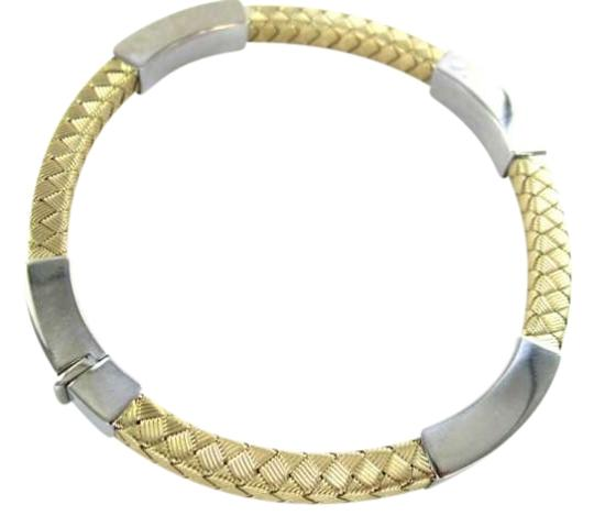 Vintage 14KT YELLOW GOLD BRACELET ITALY BANGLE WEAVE BRACELET 11.5DWT DESIGNER JEWELRY