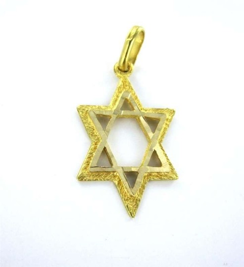 Vintage 18KT YELLOW GOLD PENDANT STAR OF DAVID 1.4DWT RELIGIOUS JEWISH JEW ISRAEL JEWEL