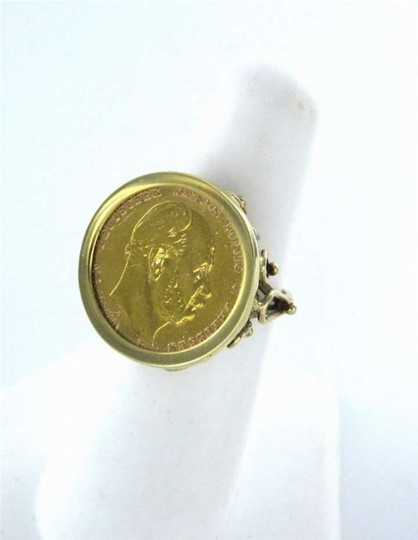 Vintage 14K YELLOW MEN GENTS GOLD COIN RING GERMAN 10M 1873 DEUTSCHES REICH SZ 7 VINTAGE