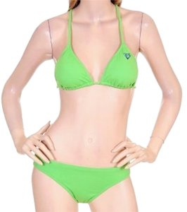 Victoria Victoria Solid Color Bikini Halter Bathing Suit