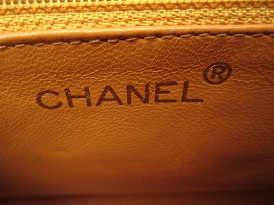 Chanel Front Flap Caviar Leather Satchel in yellow