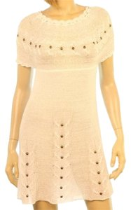 By Deep Los Angeles Deep Los Angeles Crochet Cable Knit Studded Cover Up Dress