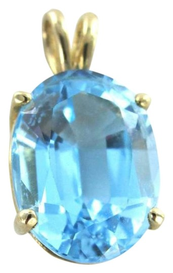 Preload https://item2.tradesy.com/images/yellow-gold-14kt-pendant-blue-topaz-28dwt-precious-stone-fine-charm-necklace-350506-0-0.jpg?width=440&height=440