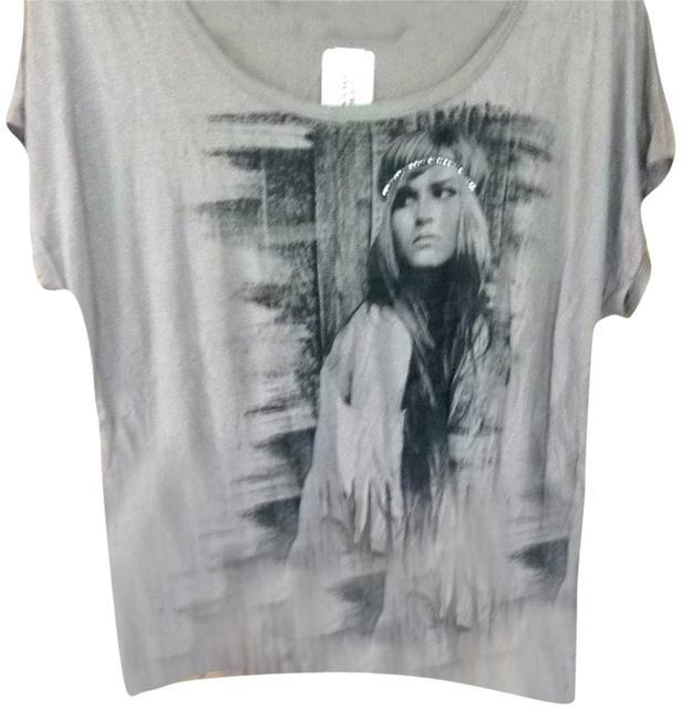 Forever 21 T Shirt Taupe With Image