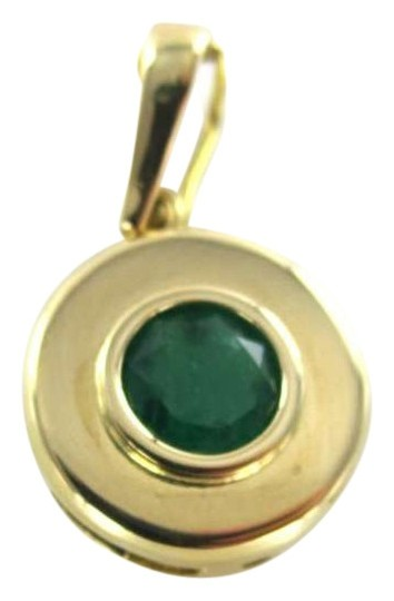 Preload https://item2.tradesy.com/images/yellow-gold-18kt-pendant-colombian-emerald-1ct-round-23grams-fine-jewel-necklace-350516-0-0.jpg?width=440&height=440