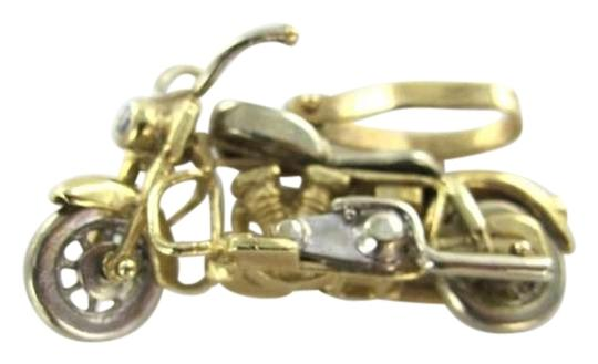 Vintage 10KT YELLOW GOLD PENDANT SOLID MOVES MOTORCYCLE BIKE PENDANT CHARM CHOPPER BIKER