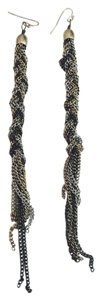 Urban Outfitters Braided Chain Dangly Earrings