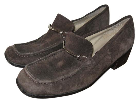 Shoestrings Loafers Suede Brown Mules