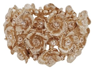 Topshop Stretchy Gold/ Rose Gold Floral Cuff