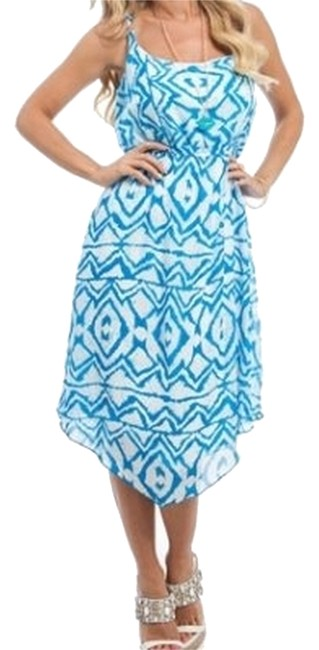 Preload https://item3.tradesy.com/images/bluewhite-aztec-print-handkerchief-hem-high-low-cocktail-dress-size-16-xl-plus-0x-3505792-0-0.jpg?width=400&height=650