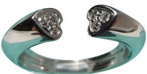 Tiffany & Co. 18K Paloma Picasso Tenderness 2 Heart Diamond Ring Size 6