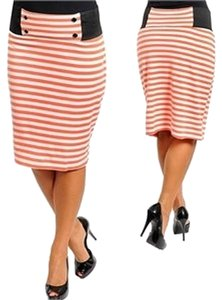 Other Skirt coral/white/black
