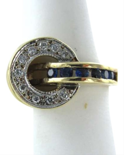 vintage 14K YELLOW GOLD RING SZ 6.5 COCKTAIL 10 DIAMOND INFINITY 4.5DWT CELEBRITY JEWEL